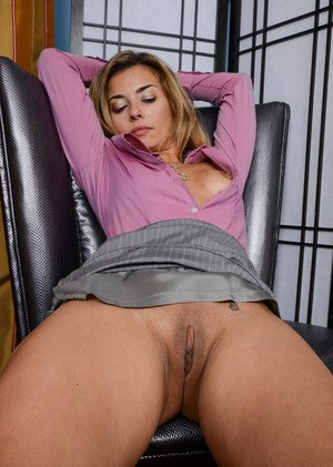 Mature anal sex on chair