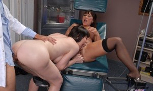 MILF pornstars Ava Devine  Daniella Foxx get ass fucked by their dentist